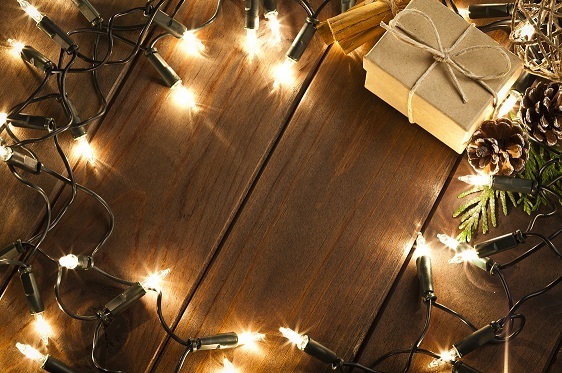 Use white lights and tasteful garland to show your holiday spirit