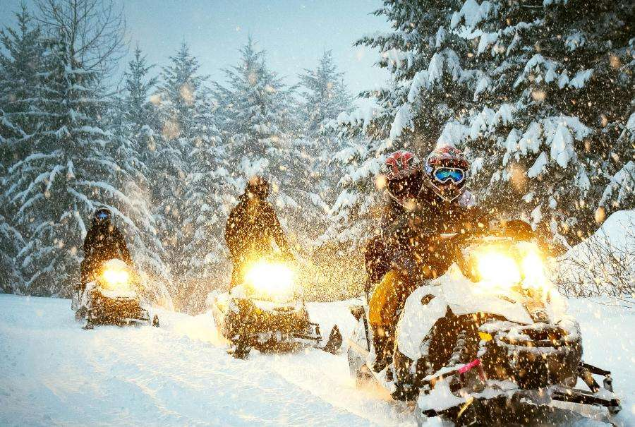 Get in the Holiday Spirit With Snowmobiles and Bloody Marys
